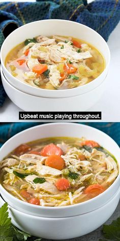Chicken Macaroni Soup, Chicken Soup Recipes, Easy Soup Recipes, Dinner Recipes, Chicken Heart Soup Recipe, Healthy Chicken Soup, Chicken Rice Soup, Chicken Soups, Chicken Chili
