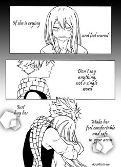 Fairy Tail - NaLu - Comic by AyuMichi-me on DeviantArt Fairy Tail Nalu, Fairy Tail Lucy, Fairy Tail Meme, Fairy Tail Quotes, Fairy Tail Comics, Fairy Tail Family, Fairy Tail Ships, Fairy Tail Couples Comics, Nalu Comics