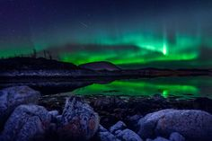 Coastal Reflections II by Iwan Groot on 500px.... #astroscape #aurora #aurora borealis #cold #collisions #europe #magic #meteor #northern lights #norway #reflection #rocks #scandinavia #shooting star #stars