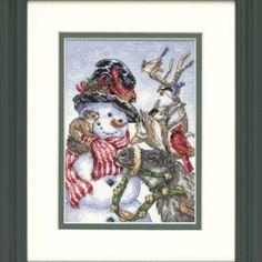 Dimensions Point de Croix Compté Snowman & Reindeer sur Lish, € 18,48