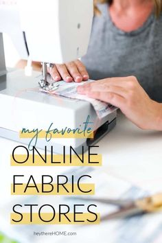 Get this list of favorite online fabric stores to help you buy fabric online for your next easy sewing project. Get this list of favorite online fabric stores to help you buy fabric online for your next easy sewing project. Easy Sewing Projects, Sewing Hacks, Sewing Ideas, Sewing Tips, Diy Projects, Sewing Patterns, Blogger Home, Buy Fabric Online, Beautiful Interior Design