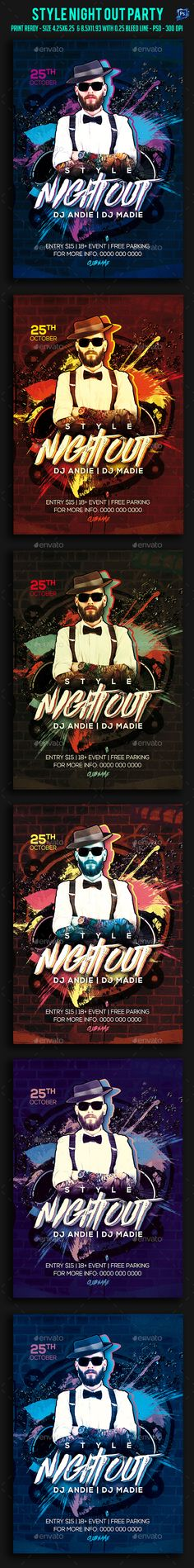 Style Night Out Party Flyer