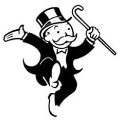 Mr Monopoly #moustache #logo
