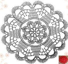 World crochet: Motive 57 Crochet Mandala Pattern, Crochet Circles, Crochet Doily Patterns, Crochet Diagram, Crochet Round, Crochet Chart, Crochet Squares, Crochet Home, Thread Crochet