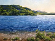 Spring Morning, Lake St. Catherine, Vermont by Andrew Orr Oil ~ 9 x 12