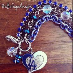 Los Angeles Dodgers Baseball Multichain by alliefayedesigns