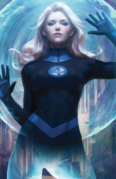 """Marvel has revealed Stanley """"Artgerm"""" Lau's covers to Fantastic Four featuring Mister Fantastic and The Invisible Woman. Marvel Dc Comics, Marvel Avengers, Marvel Women, Bd Comics, Marvel Girls, Comics Girls, Marvel Heroes, Captain Marvel, Fantastic Four 1"""