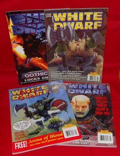 White Dwarf No. 229 No.230 No. 232 No. 233 Games Workshop Monthly Hobby Magazine #WhiteDwarf