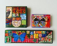 Gift Boxes Collaged Gift Boxes by DulcetWhimsy on Etsy