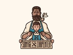 Son of the carpenter / personal Designed by: Nastya Temchenko. Stay creative and keep participating in design contest: Outline Illustration, Graphic Design Illustration, Digital Illustration, Logo Design Inspiration, Icon Design, Design Art, Logo Branding, Branding Design, Branding Ideas