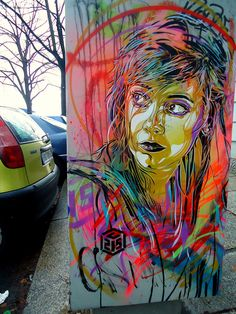 Cool Artful Painting Decoration Applied For Parking Area Applied In Outdoor Area…