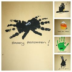 Halloween hand and foot art Daycare Crafts, Fun Crafts For Kids, Fall Crafts, Art For Kids, Kid Crafts, Toddler Art Projects, Toddler Crafts, Projects For Kids, Toddler Stuff