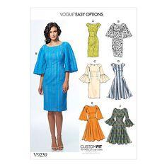 Buy Vogue Women's Dress Sewing Pattern, 9239 Online at johnlewis.com