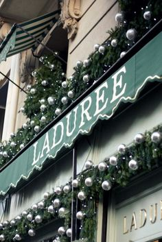 Paris...Laduree at Christmas..The most DELISH,  melt in your mouth macaroons ever.