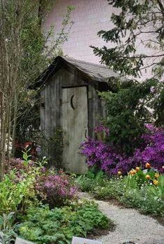 8 Best Outhouses images in 2016   Outhouse bathroom, Shed, Cabin