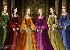 Divorced, Beheaded, Died, Divorced, Beheaded, Survived. Don't think I'm related to any of these ladies, but it's the classic English history poem. :-)
