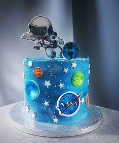 6th Birthday Parties, Birthday Cakes, Planet Cake, Space Theme, Cake Boss, Sugar Art, Fondant, Cake Decorating, Party