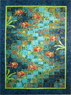 Molokini Bay Bargello Ocean Fish Quilt Pattern Quilting Time #QuiltingTime