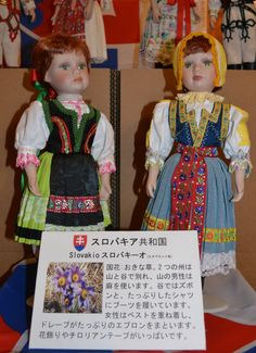 Slovak dolls spotted in Japan! Thanks to Atilio Orellana Rojas for this interesting photo at a doll exhibition in Higashikagawa, Japan.
