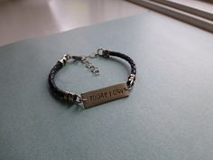 Hey, I found this really awesome Etsy listing at https://www.etsy.com/ca/listing/227729273/mens-bracelet-recovery-today-i-can-black