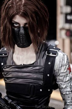 Anti Ai-chan Cosplay: Winter Soldier