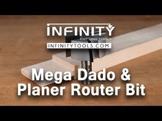 Infinity Cutting Tools - Mega Dado & Planer Router Bit - YouTube