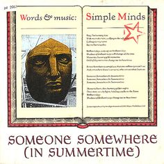 """For Sale -Simple Minds Someone Somewhere [In Summertime] - Poster Sleeve UK  7"""" vinyl single (7 inch record)- See this and 250,000 other rare and vintage records & CDs at http://eil.com/"""