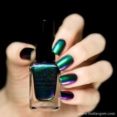 Blessing magically shifts through spectacularly vivid hues of green, blue, violet, red, and even offers subtle hints of gold depending on the angle of your fingertips and the type of lighting you're under! It is formulated to apply directly to the nail without the need for a base color. Fully opaque in 2-3 coats!All F.U.N lacquers products are 5-FREE! They do not contain Dibutyl Phthalate (DBP), Toluene, Formaldehyde, Formaldehyde Resin, Camphor and it is cruelty FREE.*Ple...