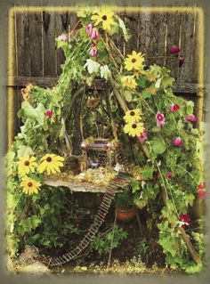 lovely collection of fairy gardens