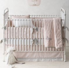 Little Star Appliqué & Classic Stripe Print Nursery Bedding Collection