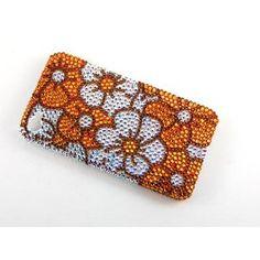 Topaz AB Pansy Daisy Flower Garden iPhone 4S 4 Case W/ Swarovski Crystal Element
