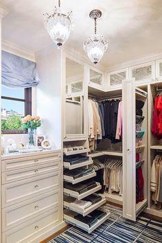 Practical pullout drawers. #closetorganizer