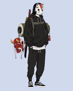 Kushina Y Naruto, Itachi, Character Concept, Character Art, Futuristic Samurai, Mega Anime, Samurai Artwork, Vaporwave Art, Arte Cyberpunk