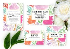 Your place to buy and sell all things handmade Flower Invitation, Wedding Invitation Suite, Floral Wedding Invitations, Wedding Suite, Christmas Card Template, Printable Invitations, Save The Date Cards, Watercolor Flowers, Perfect Wedding