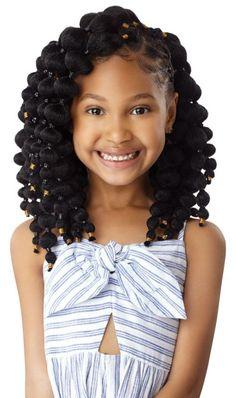XPLL_Natural-Puff-Ball-10_1B_Main Kids Crochet Hairstyles, Black Kids Braids Hairstyles, Natural Hairstyles For Kids, Little Girl Hairstyles, Crochet Hair Styles, Easy Hairstyles, Crochet Braids For Kids, Curly Hair Styles, Natural Hair Styles