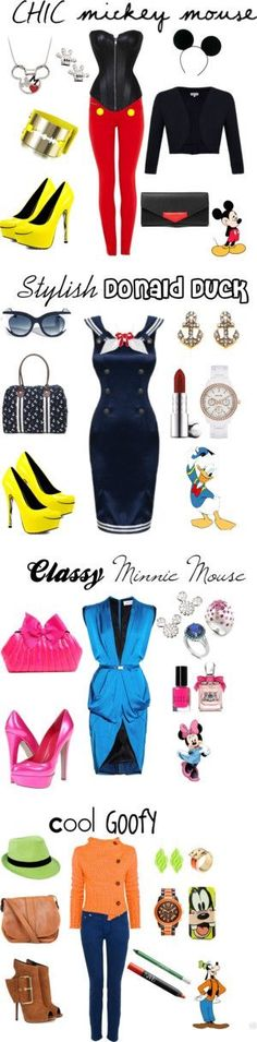 Disney | Mickey | Minnie | Donald Duck | Goofy | costume | woman