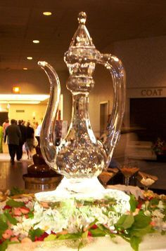 Arabic party ice sculpture
