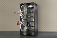Bike & Book Shelf -- Perfect storage solution, especially for college students!