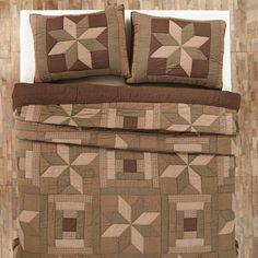 Bradley Quilt by VHC Brands - Quality construction is evident in the hand stitching of this Bradley Quilt by VHC Brands . Crafted of 100% cotton, it boasts a geometric plaid pattern...