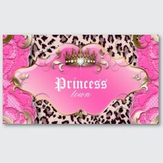 I love my jeans and T-shirts. But every once in a while a girls got to feel like a princess.  Princess Pink Leopard