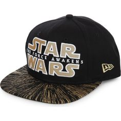 NEW ERA 9Fifty Star Wars snapback cap (65 CAD) ❤ liked on Polyvore featuring men's fashion, men's accessories, men's hats, black, mens visor hats, mens caps and hats and mens snapback hats
