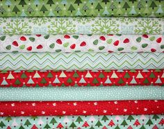 SALE Joy Christmas fabric quilt supplies 1/2 yards bundle by fabricshoppe, $38.00