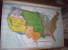 I Love Vintage Wall Maps Vintage Us Wall Map By Cellar1237 On Etsy 225 00