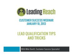 In this Leading Reach Customer Success Webinar, we go through the best ways to qualify leads at trade shows and events using the power of Leading Reach. Best Practice, Trade Show, Fails, Success, Learning, Amazing, Events, Ideas, Happenings