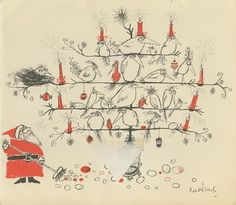 Ronald Searle Tribute: Merry Christmas from Ronald Searle! Christmas Books, Vintage Christmas, Christmas Cards, Merry Christmas, Funny Christmas, Christmas Design, Gary Larson, Anne Taintor, Retro Humor