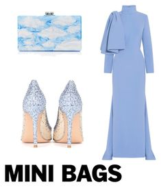 """""""Untitled #226"""" by taniaheung ❤ liked on Polyvore featuring Christian Siriano, Edie Parker and Gianvito Rossi"""