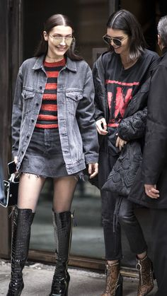 Bella Hadid and Kendall Jenner Have a Model-Off-Duty Matching Moment Bella Hadid, Kardashian, Kendall Jenner Style, Models Off Duty, Celebrity Look, Runway Models, Fashion Outfits, Nice Outfits, Nyc Fashion