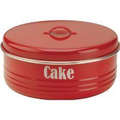 Typhoon® Vintage Kitchen Red Cake Tin - From Lakeland Cake Tins, Cake Plates, Pie Carrier, Casa Retro, Red Kitchen, Kitchen Ideas, Kitchen Stuff, Kitchen Retro, Kitchen Ware