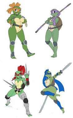 Not usually a big fan of tmnt genderbends but this one is good.