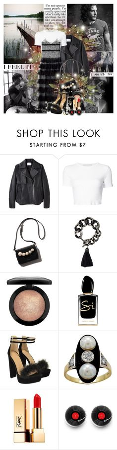 """My Vision)"" by lady-redrise ❤ liked on Polyvore featuring Zephyr, Alexander Wang, Rosetta Getty, Lanvin, MAC Cosmetics, Giorgio Armani and Yves Saint Laurent"